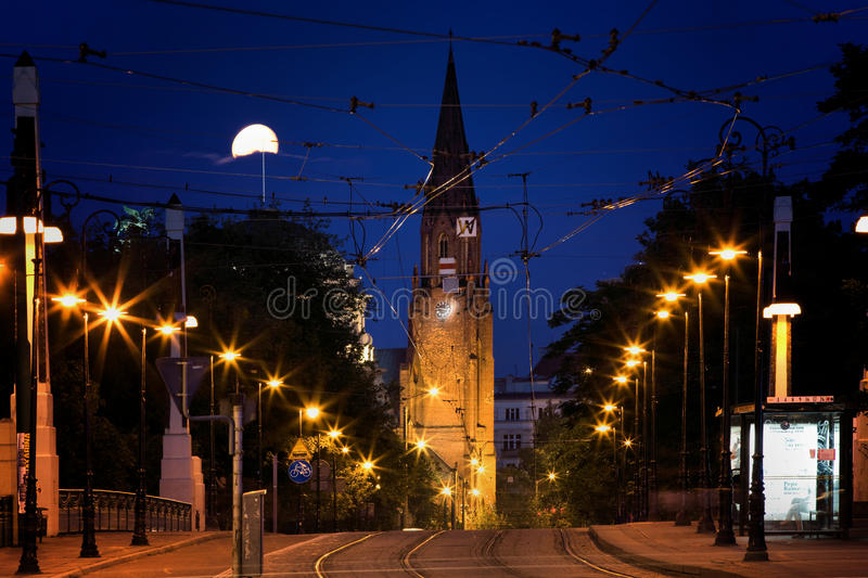 Bridge Theatre in Poznan. Road viaduct over the railway line, known popularly Teatralka, within the administrative boundaries of the city of Poznan royalty free stock photography