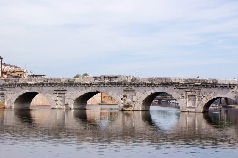 The bridge of Tiberius in Rimini royalty free stock photos