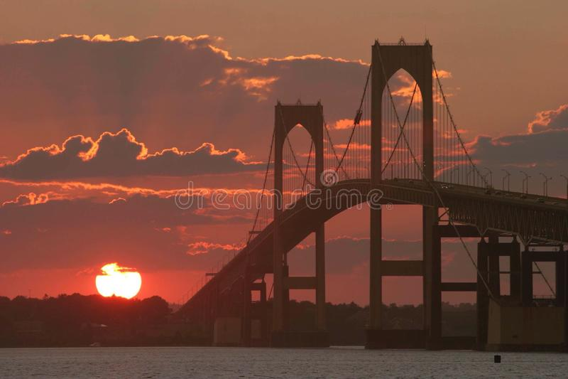 The bridge to the end of the day. royalty free stock images