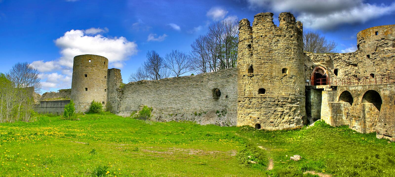 Bridge To Medieval Fortification Royalty Free Stock Photo