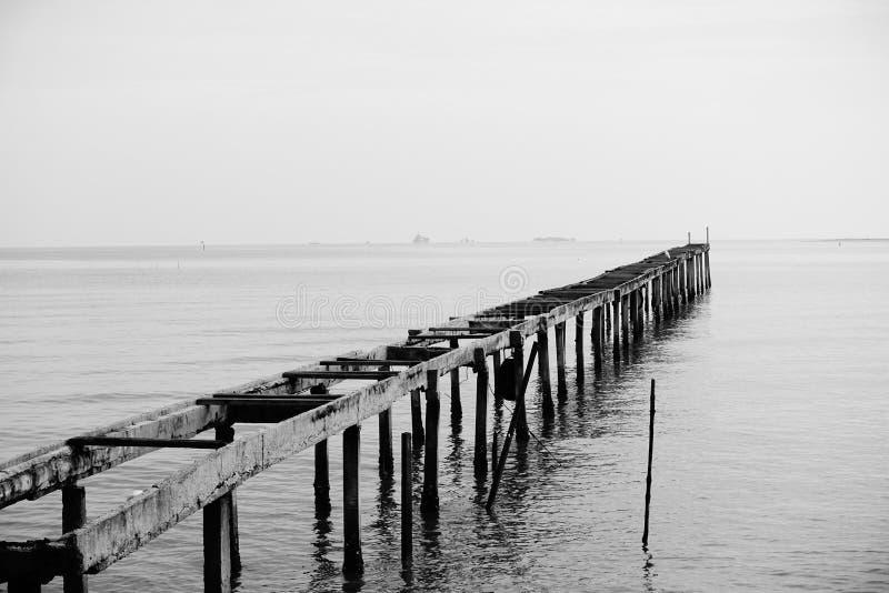 The Bridge to nowhere stock photos