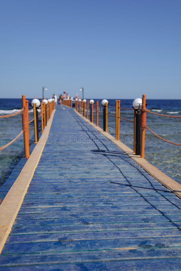 Bridge to sea royalty free stock images