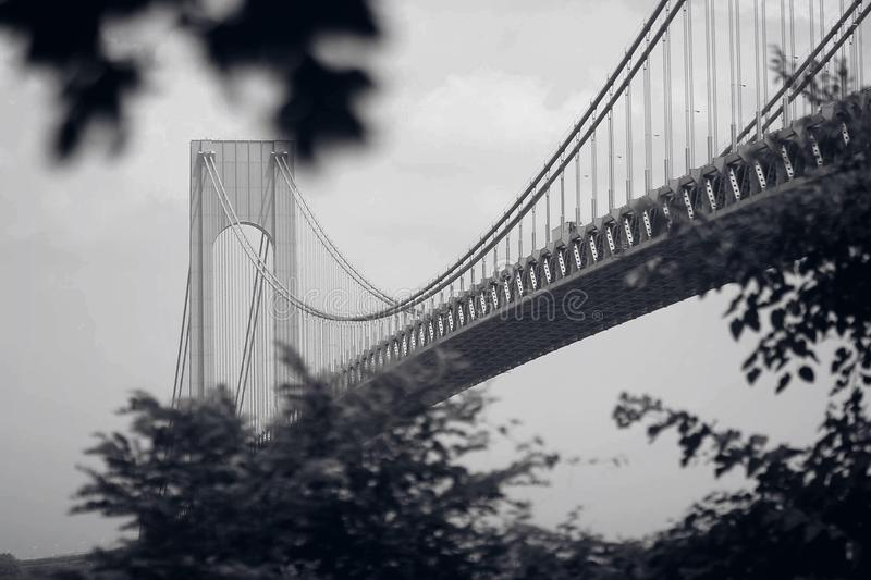 Bridge to somewhere new. Bridge to NY royalty free stock image
