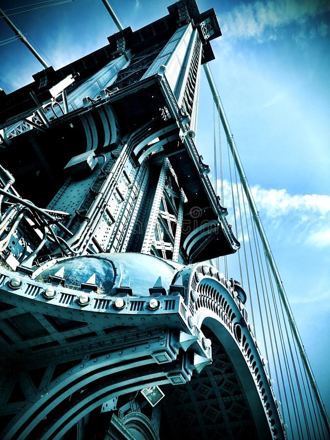 Bridge tower manhattan royalty free stock images