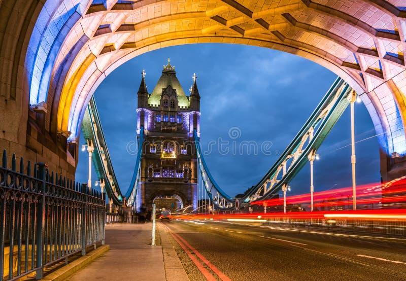 Bridge Tower night view stock photo