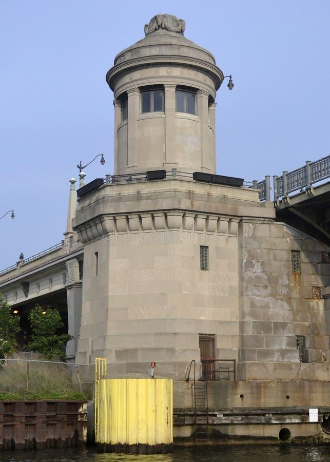 Bridge Towers royalty free stock photography