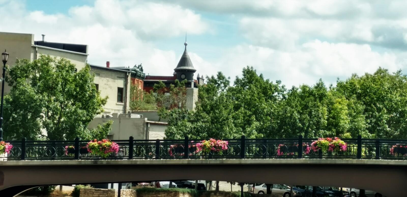Bridge Town royalty free stock images