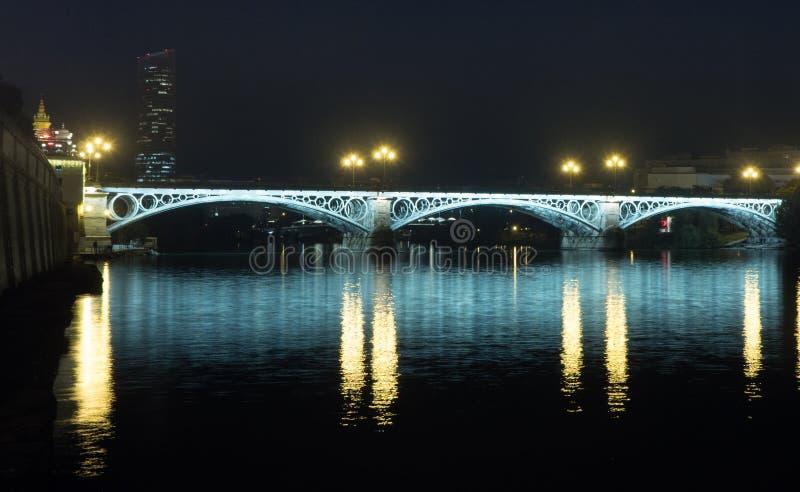 Bridge of Triana and Isabel II of Seville - Puente de Triana e Isabel II de Sevilla stock photography