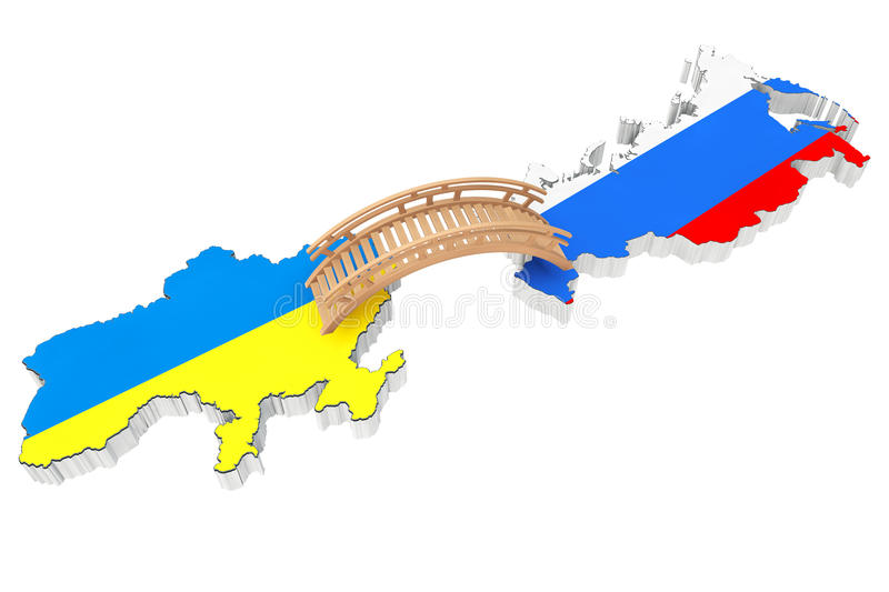 Bridge between Ukraine and Russia