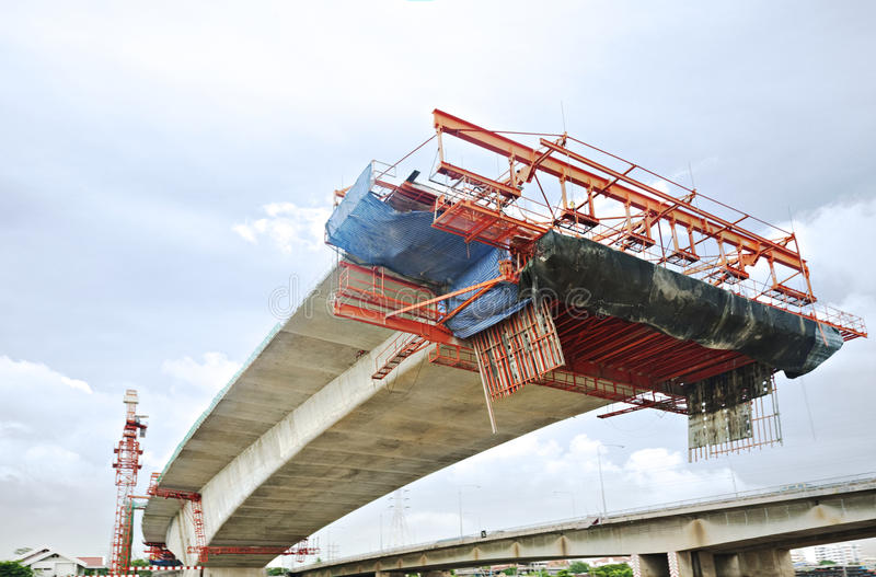 Bridge Under Construction stock images