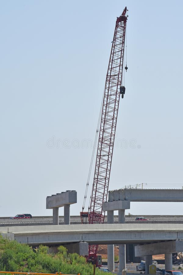 A bridge under construction is shown royalty free stock photo