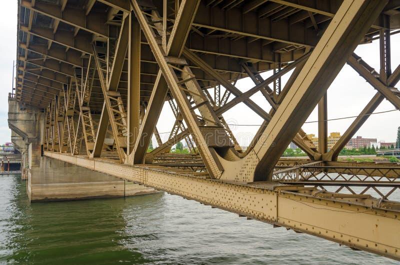 Bridge Underside. View of the underside of the Burnside Bridge in Portland, Oregon royalty free stock images
