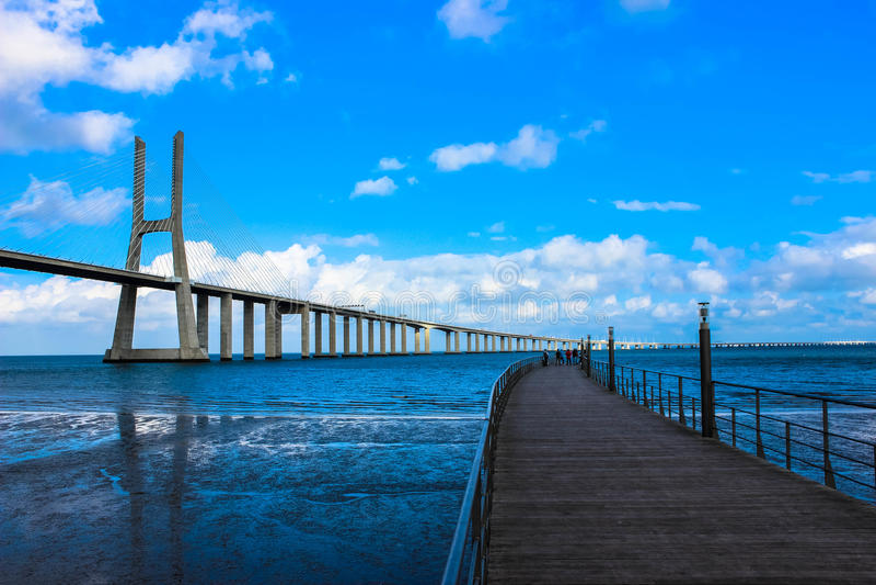 Bridge Vasco da Game. This is a picture of the Brigde Vasco da Gama royalty free stock photos