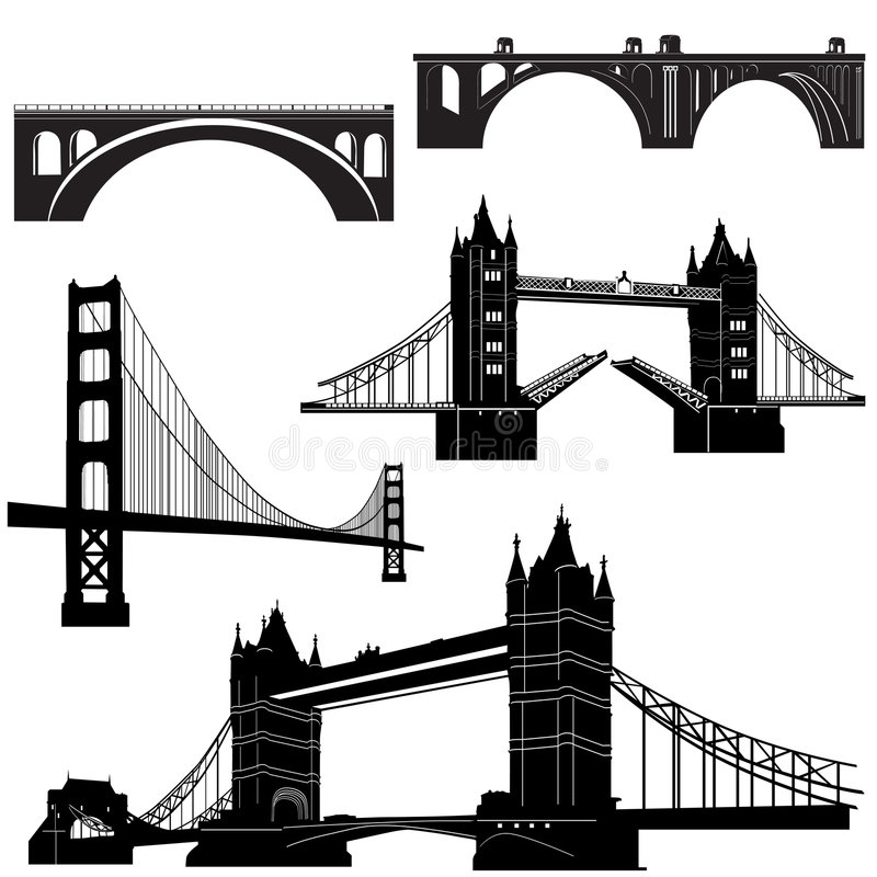 Bridge vector 2 stock illustration