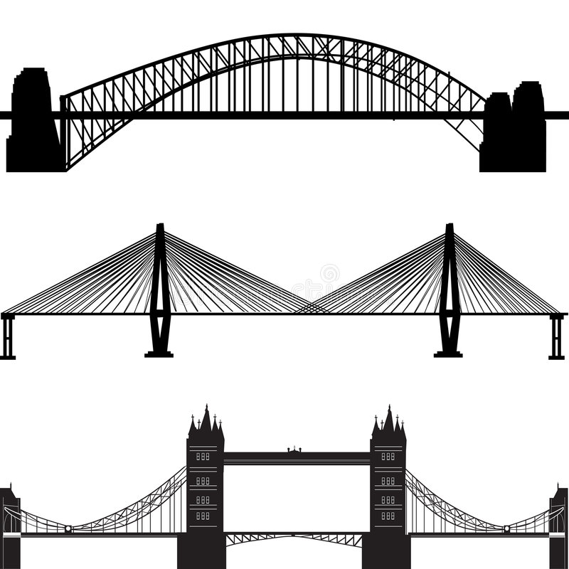 bridge vector vector illustration