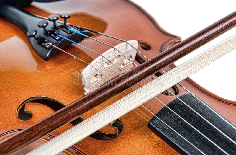 bridge of a violin royalty free stock photos