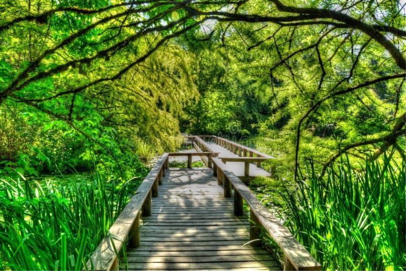 Bridge walkway stock images