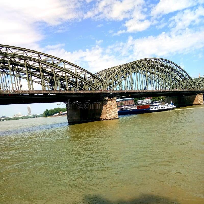 the bridge water sky stock photos