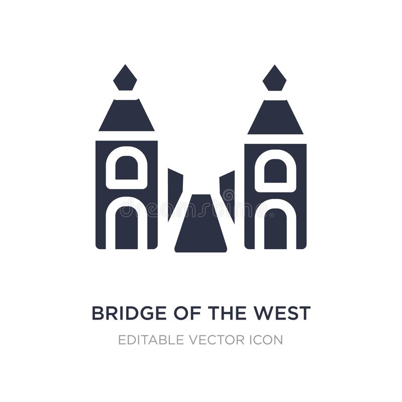 bridge of the west icon on white background. Simple element illustration from Monuments concept vector illustration