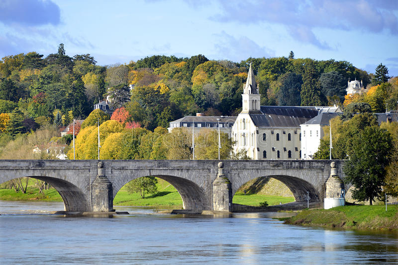 Bridge of Wilson at Tours in France royalty free stock photography