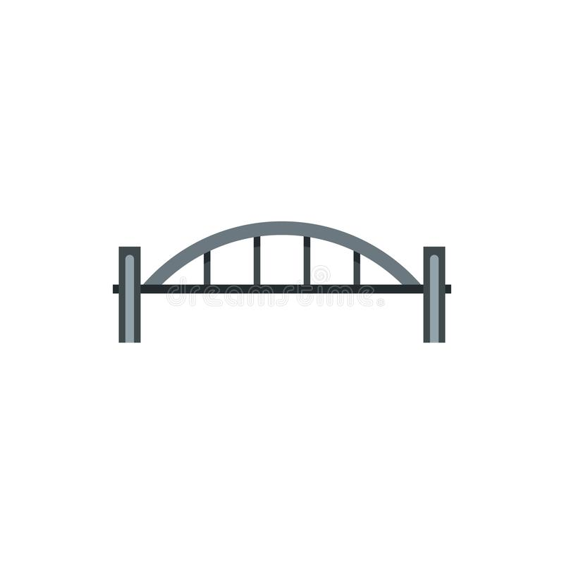 Free Bridge With Arched Railing Icon, Flat Style Royalty Free Stock Images - 127092319