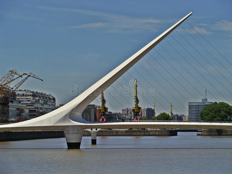 The bridge of the Woman, Buenos Aires. royalty free stock photo