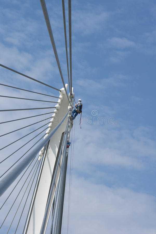 Free Bridge Worker And Cables Stock Photo - 10952870