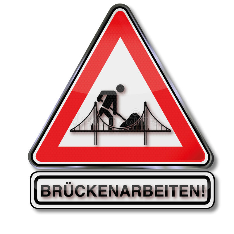 Bridge works royalty free illustration