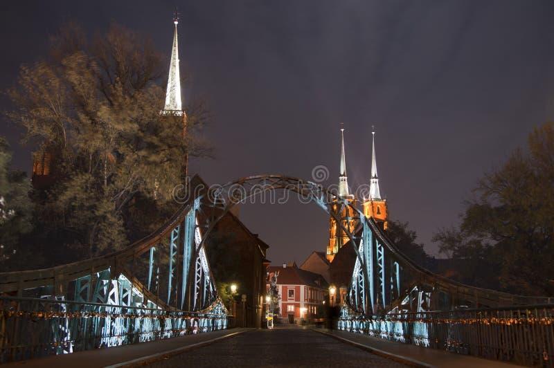 Bridge in wroclaw stock photos