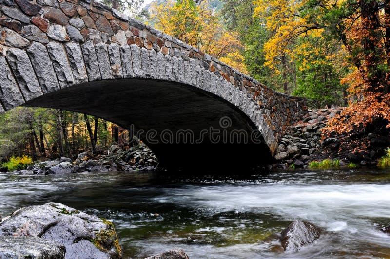 Bridge in Yosemite Valley royalty free stock photo