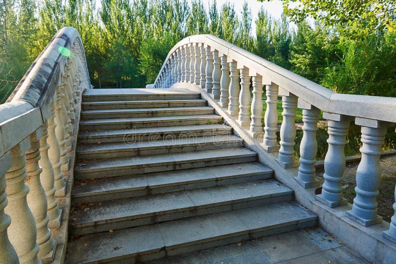 Bridgecraft - columnar staket arkivfoton