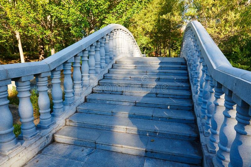 Bridgecraft - columnar staketsolnedgång fotografering för bildbyråer
