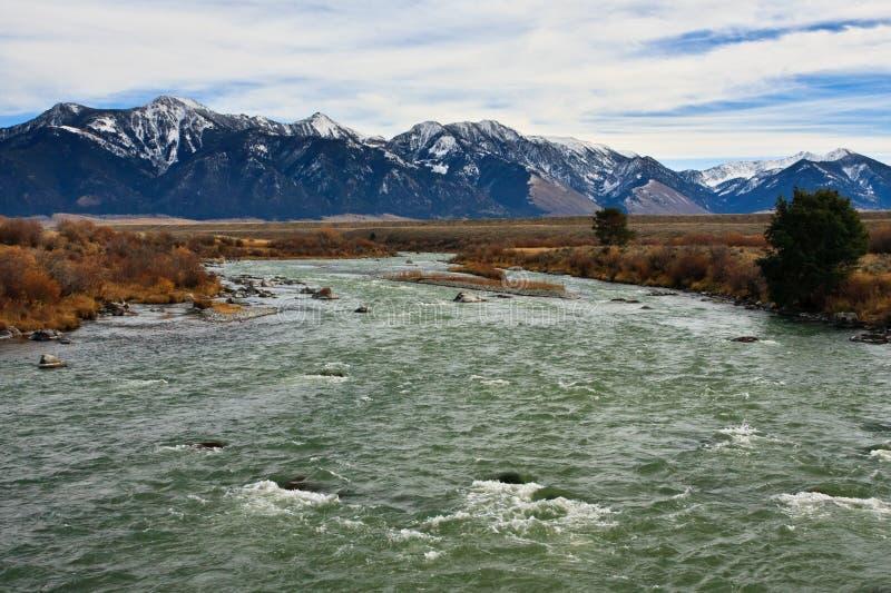 bridger Madison Montana góry rzeczne obraz royalty free