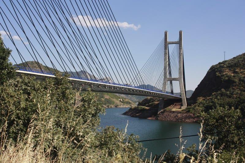 BridgeRiverside in meer, 'Barrios DE Luna ', Leà ³ n royalty-vrije stock foto's