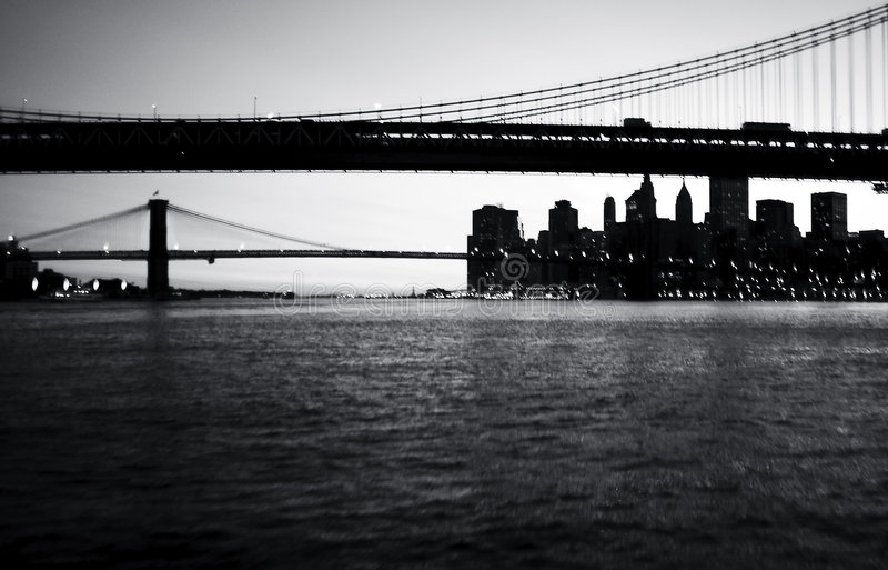 Download Bridges stock image. Image of manhattan, water, evening - 62933