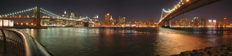 bridges brooklyn två arkivfoton