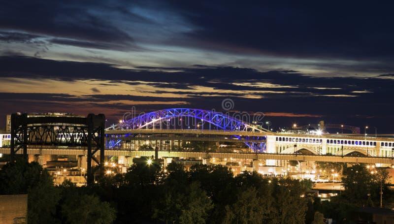 Bridges of Cleveland stock images