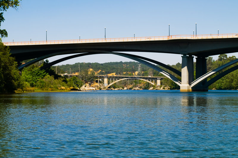 Download Bridges In Folsom California Stock Image - Image of reflection, architecture: 5413107