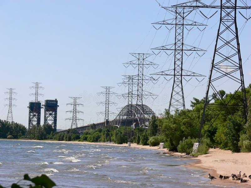 bridges hydrotorn två arkivfoto