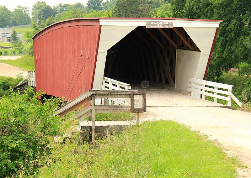 Bridges of Madison County most famous Cedar Bridge royalty free stock photo