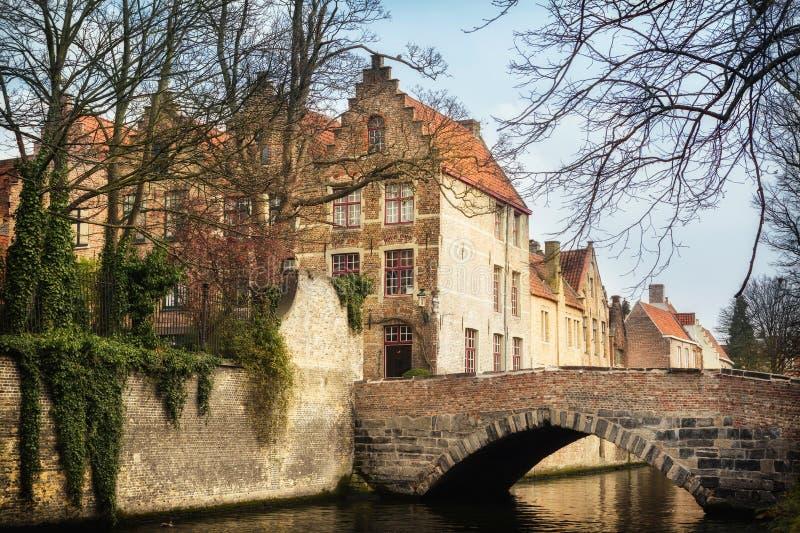 Download Bridges in medieval Bruges stock image. Image of gothic - 40910033