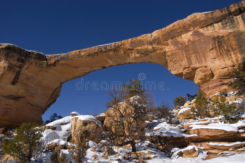bridges nationell naturlig owachomo för monument royaltyfri fotografi