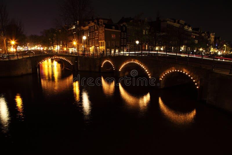 Download Bridges at Night stock photo. Image of bridges, river - 14125638