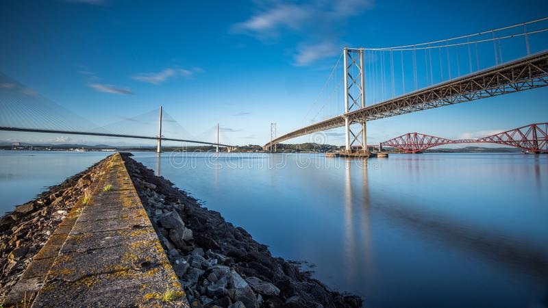 The Bridges over the Forth in Scotland royalty free stock image