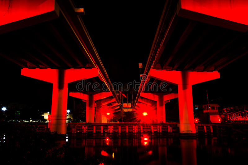 Bridges over the Hillsborough River seen from the Riverwalk at n stock photography