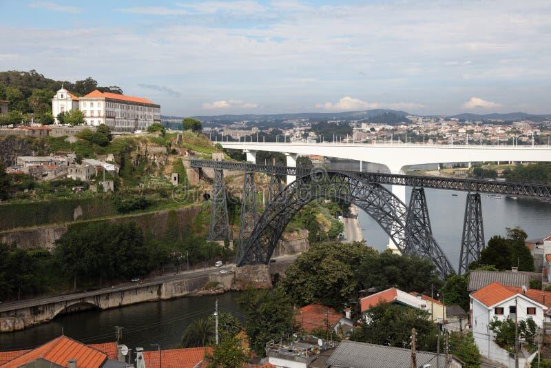 bridges porto portugal royaltyfri foto