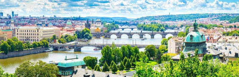 Bridges of Prague stock photo