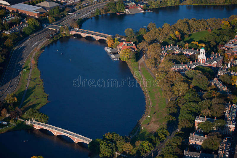 Bridges And River Bend Stock Photography
