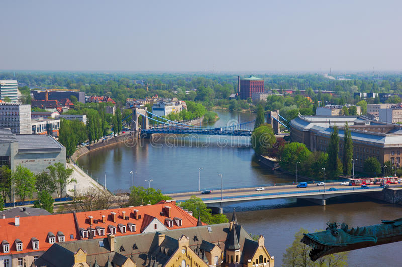 Download Bridges,  Wroclaw, Poland stock photo. Image of blue - 24625648
