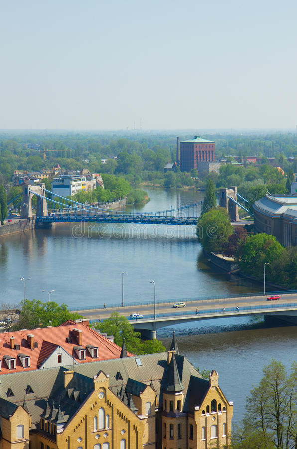 Download Bridges of Wroclaw, Poland stock image. Image of summer - 24625669